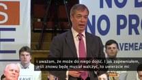 """""""Tym razem nie będę już tym «miłym gościem»"""". Nigel Farage gotów na ewentualne drugie referendum ws. brexitu"""