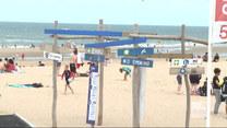 """""""Wydarzenia"""": Belgijskie plaże pełne obostrzeń. Przestrzegania ich pilnują policyjne patrole"""