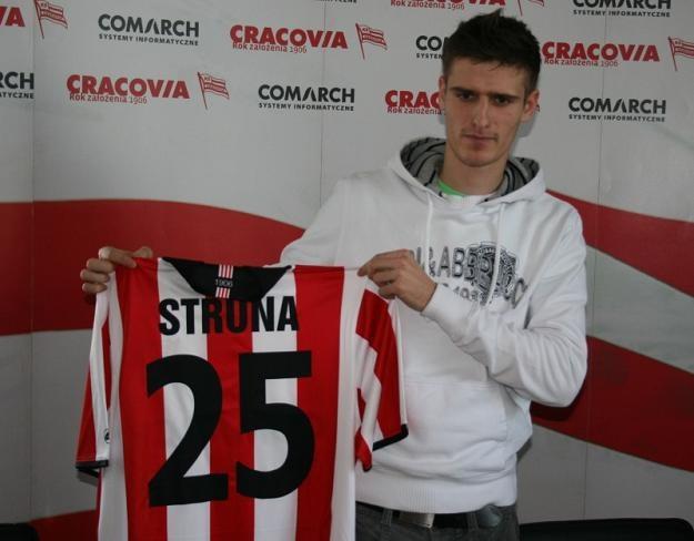 Andraż Struna z Cracovią związał się na 3,5 roku /fot. Przemysław Urbański /www.cracovia.pl