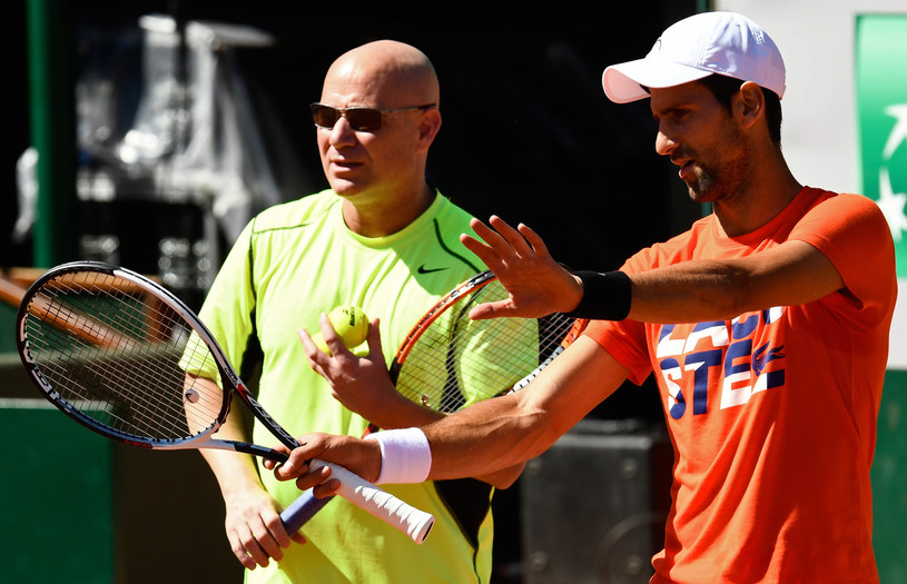 Andre Agassi i Novak Djoković /AFP