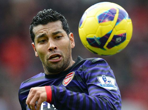 Andre Santos (tu jeszcze w barwach Arsenalu) /AFP