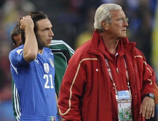 Andrea Pirlo i Marcello Lippi, to już przeszłość reprezentacji Włoch. /AFP