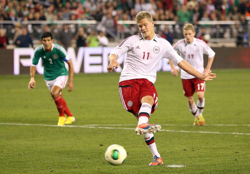 Andreas Cornelius nazywany jest największym talentem duńskiego futbolu ostatnich lat /AFP
