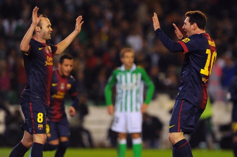 Andres Iniesta i Lionel Messi /AFP
