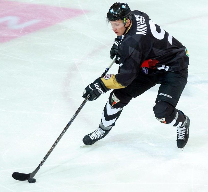 Andriej Michnow (L) z GKS Tychy / Andrzej Grygiel /PAP