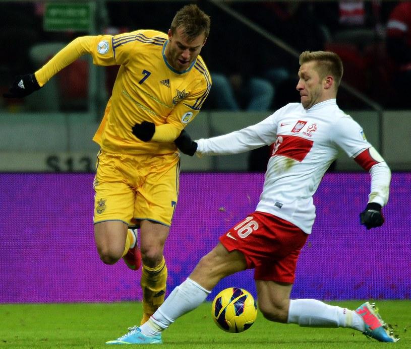 Andrij Jarmołenko w piątek strzelił gola Polsce, a we wtorek Mołdawii /AFP