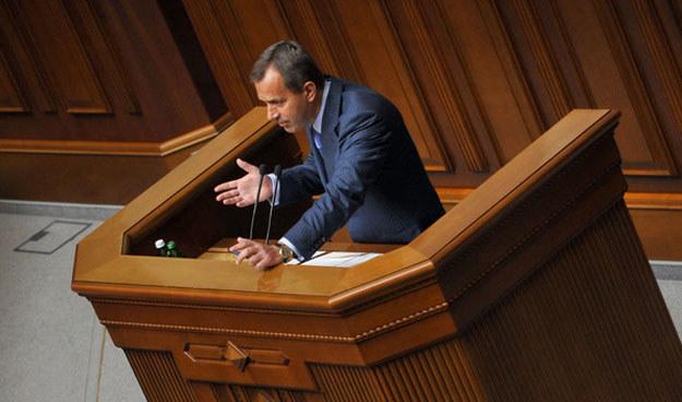 Andrij Klujew, szef administracji obalonego prezydenta Ukrainy Wiktora Janukowycza. /AFP
