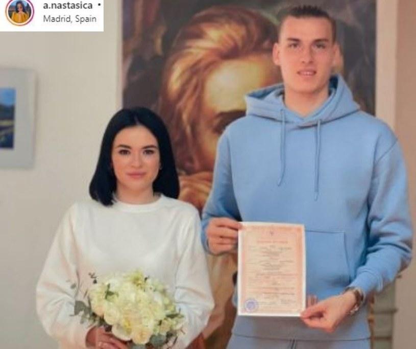 Andrij Łunin wziął ślub ze swoją wybranką Anastasią Tamazową/ Źródło: Instagram /