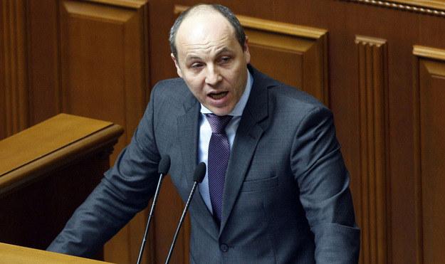 Andrij Parubij twierdzi, że chcą go porwać rosyjskie służby specjalne /AFP
