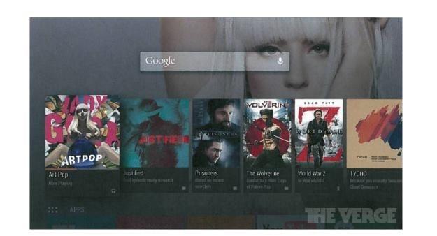 Android TV - tak ma wyglądać według zrzutu ekranu przedstawionego przez serwis The Verge /Internet