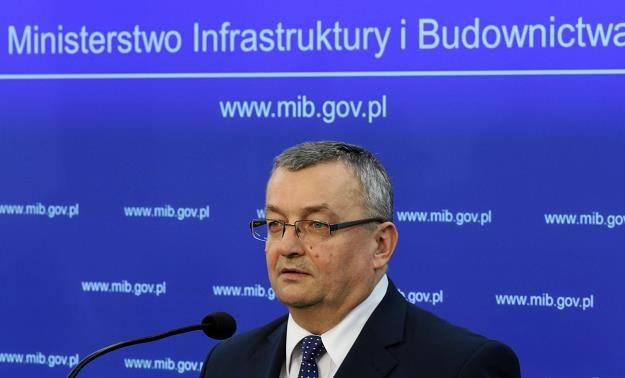Andrzej Adamczyk, minister infrastruktury. Fot. Sławomir Kamiński /AGENCJA GAZETA