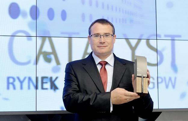 Andrzej Bartoszewicz, prezes Admiral Boats, w czasie debiutu na Catalyst /Informacja prasowa