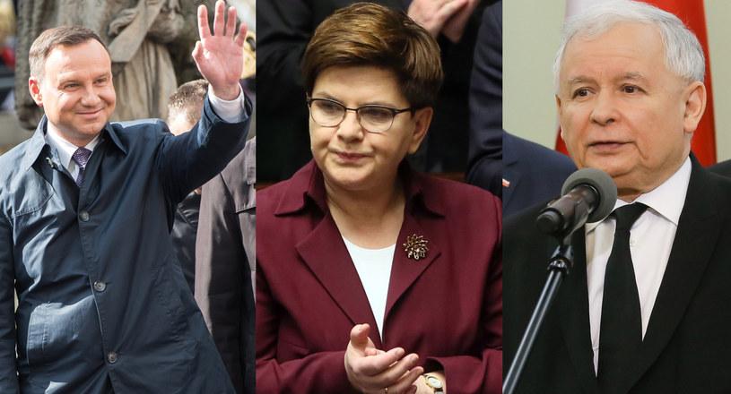 Andrzej Duda, Beata Szydło, Jarosław Kaczyński /Paweł Supernak/Tomasz Gzell/Maciej Kulczyński /PAP