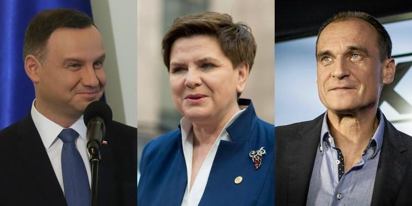 Andrzej Duda, Beata Szydło, Paweł Kukiz /Tomasz Gzell/Albert Zawada  /PAP/EPA