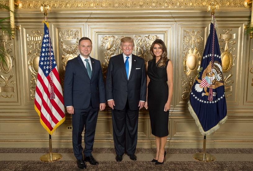 Andrzej Duda, Donald Trump, Melania Trump /KPRP/Andrea Hanks  /PAP