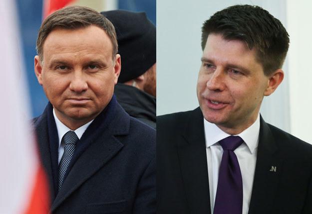 Andrzej Duda (fot. Adam Warżawa) i Ryszard Petru (fot. Rafał Guz) /PAP