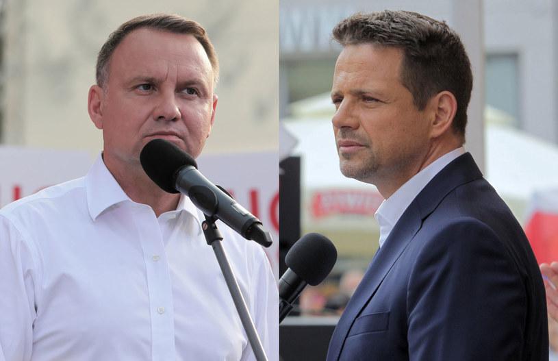 Andrzej Duda (fot. Artur Reszko) i Rafał Trzaskowski (fot. Tomasz Waszczuk) /PAP