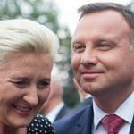 Andrzej Duda i Agata Duda na zdjęciu z dziecięcych lat