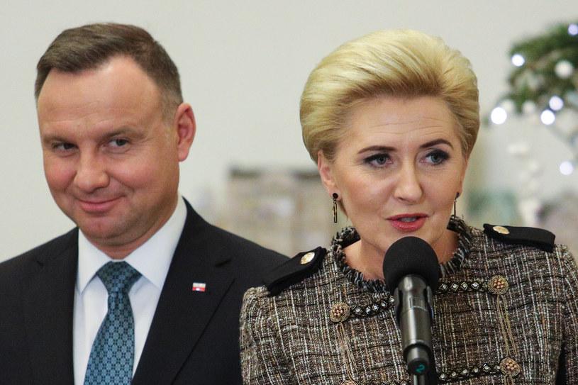 Andrzej Duda i Agata Duda /Andrzej Hulimka  /Agencja FORUM