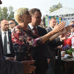 Andrzej Duda i Agata Kornhauser-Duda na dożynkach