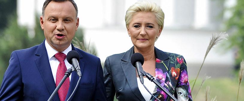 Andrzej Duda i Agata Kornhauser-Duda /Gałązka /AKPA