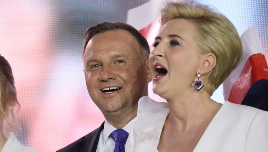 Andrzej Duda i Agata Kornhauser-Duda /Leszek Szymański /PAP