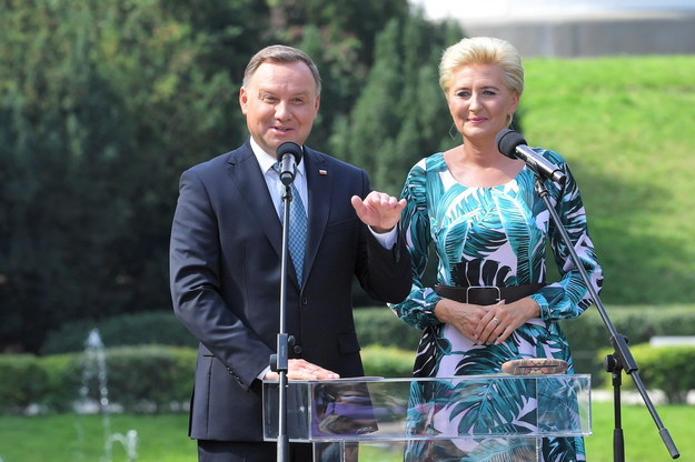 Andrzej Duda i Agata Kornhauser-Duda / Radek Pietruszka   /PAP