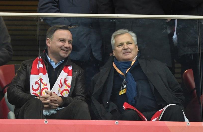Andrzej Duda i Aleksander Kwaśniewski /Piotr Blawicki /East News