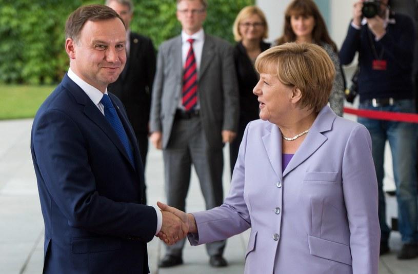 Andrzej Duda i Angela Merkel /AFP