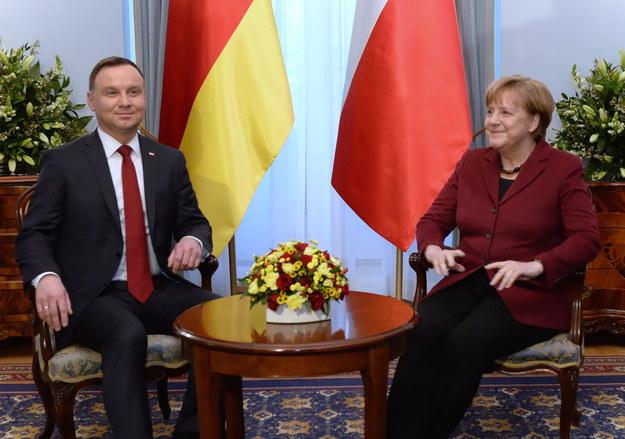 Andrzej Duda i Angela Merkel /Jacek Turczyk /PAP/EPA