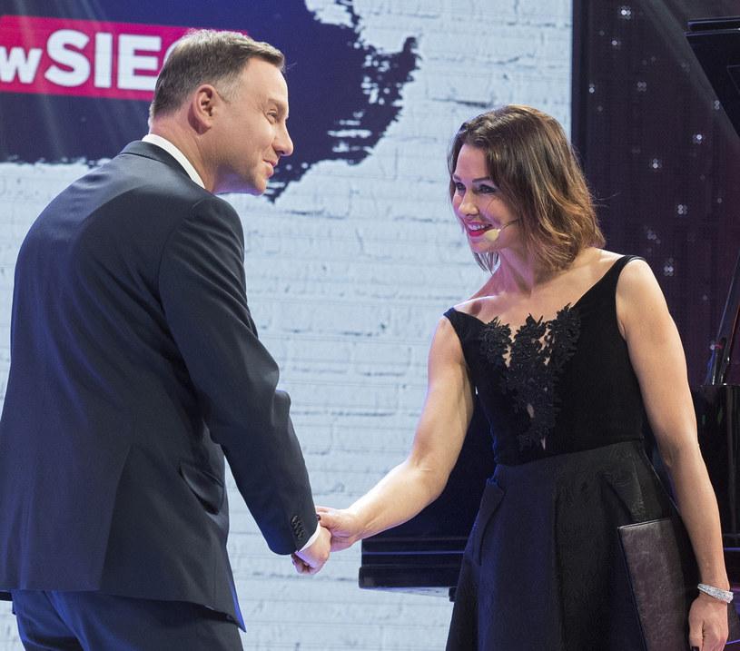 Andrzej Duda i Anna Popek /Jacek Domiński /Reporter