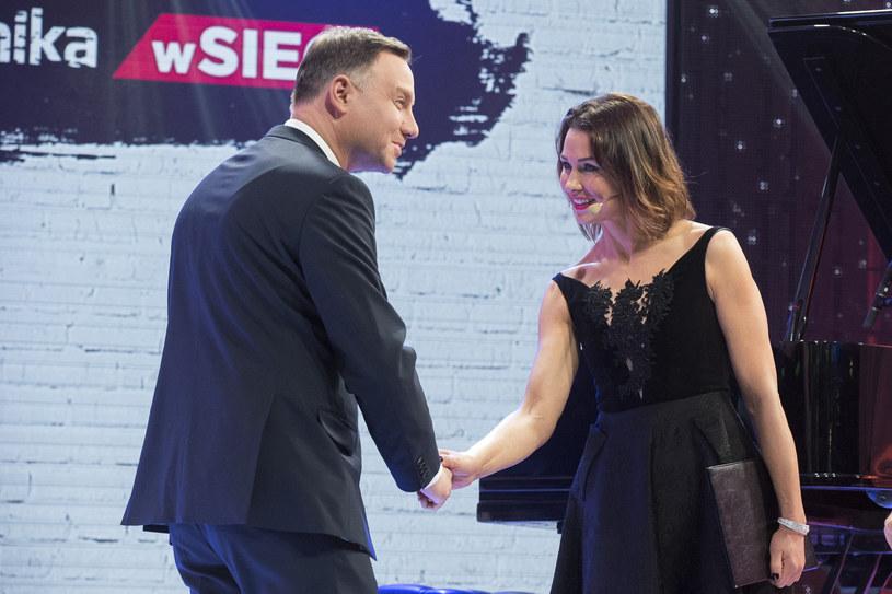 Andrzej Duda i Anna Popek / Jacek Domiński /Reporter