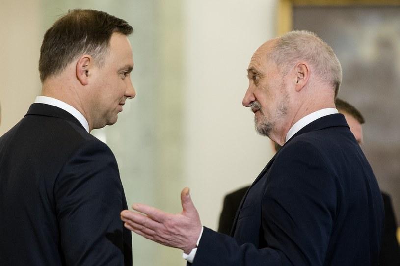 Andrzej Duda i Antoni Macierewicz /Rafal Oleksiewicz/REPORTER /East News