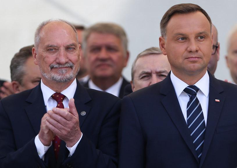 Andrzej Duda i Antoni Macierewicz /Michał Dyjuk /Agencja FORUM