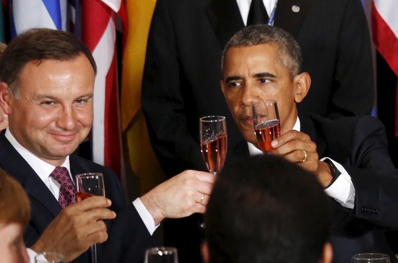 Andrzej Duda i Barack Obama w ubiegłym roku /Agencja FORUM