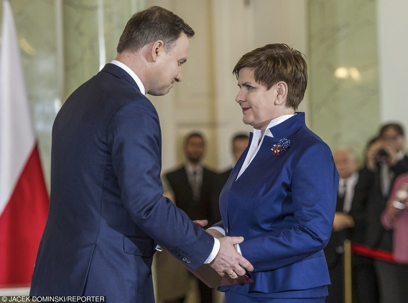 Andrzej Duda i Beata Szydło /Jacek Domiński /Reporter