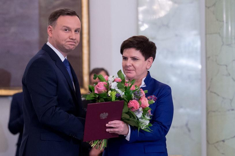 Andrzej Duda i Beata Szydło /Jacek Domiński /East News