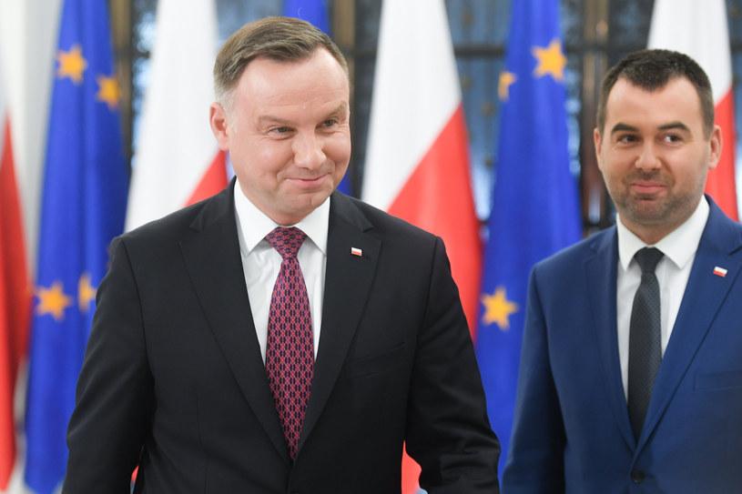 Andrzej Duda i Błażej Spychalski /Jacek Dominski/ /Reporter