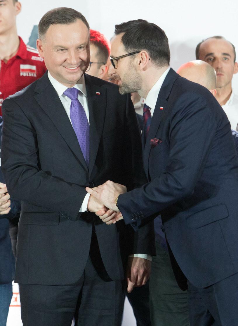 Andrzej Duda i Daniel Obajtek /Tomasz Jastrzebowski/REPORTER /Reporter