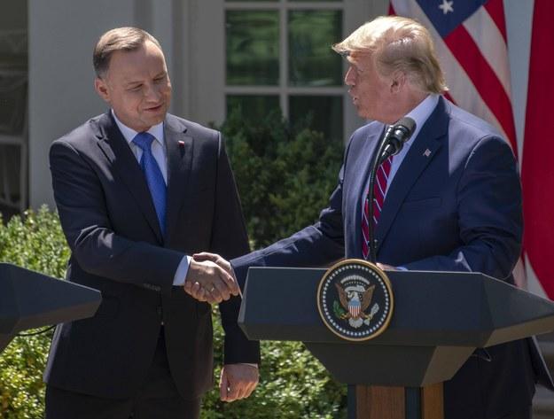 Andrzej Duda i Donald Trump mają spotkać się 24 czerwca w Białym Domu /Ron Sachs/CNP Photo/Newscom /PAP