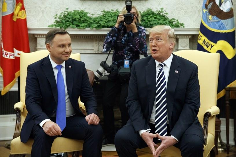 Andrzej Duda i Donald Trump w Białym Domu w 2018 r. /AP Photo/Evan Vucci /East News