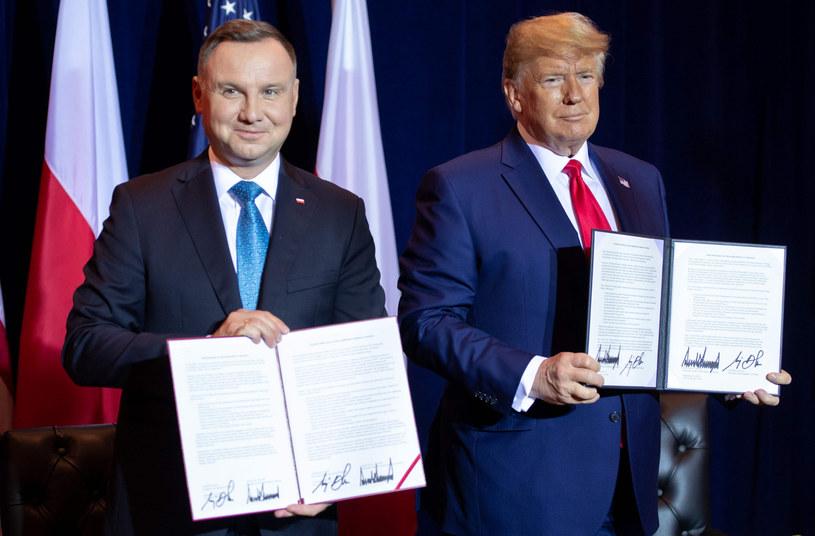 Andrzej Duda i Donald Trump we wrześniu 2019 r. /SAUL LOEB / AFP /East News