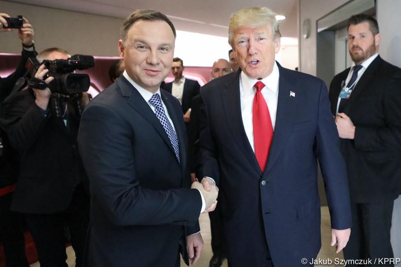 Andrzej Duda i Donald Trump /Jakub Szymczuk / KPRP /