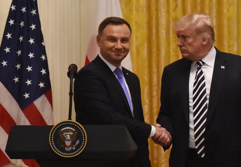 Andrzej Duda i Donald Trump /AFP