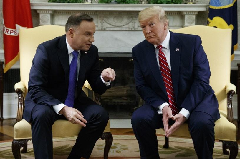Andrzej Duda i Donald Trump /AP Photo/Evan Vucci /East News