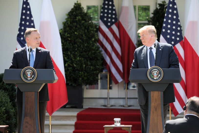 Andrzej Duda i Donald Trump / Leszek Szymański    /PAP