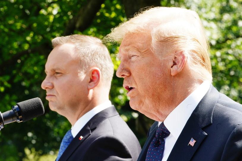 Andrzej Duda i Donald Trump /JIM LO SCALZO /PAP/EPA