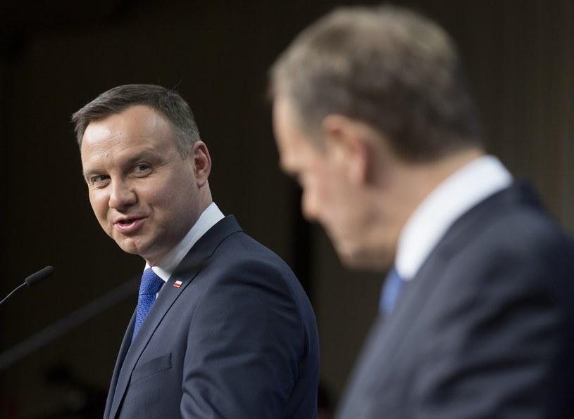 Andrzej Duda i Donald Tusk /Thierry Monasse /Reporter