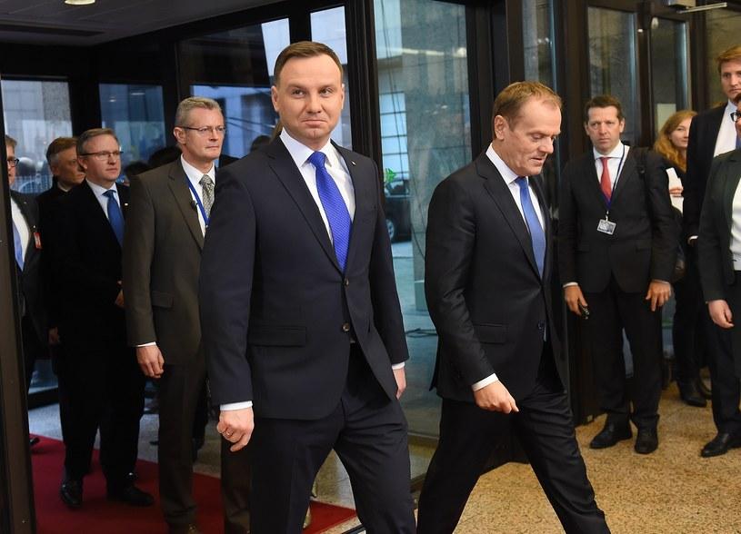 Andrzej Duda i Donald Tusk /EMMANUEL DUNAND /AFP