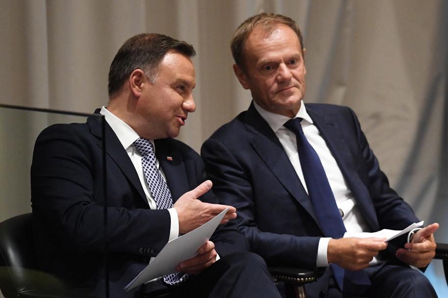 Andrzej Duda i Donald Tusk /Radek Pietruszka /PAP